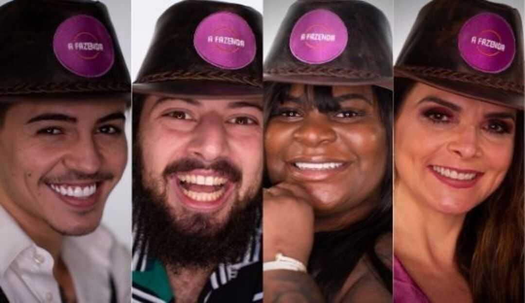 Jojo, Cartolouco, Luiza e Biel formam a quarta roça da Fazenda