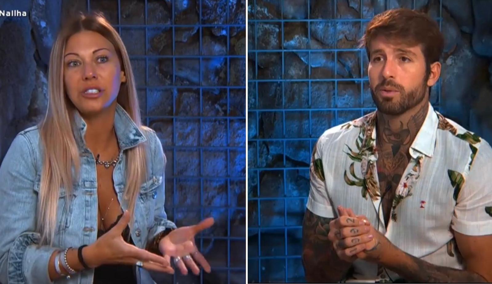 Antonella e Claudinho discutem na 'Ilha Record': 'É uma pessoa que eu não quero mais conversar'