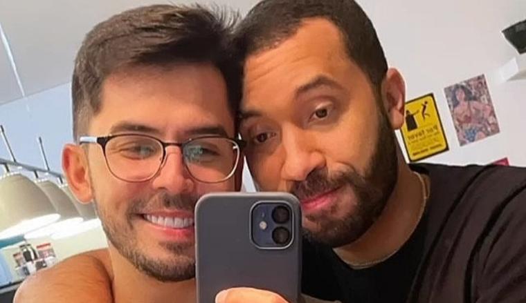 Namorado de Gil do Vigor posta nas redes sociais momento emocionante  da despedida do casal no aeroporto