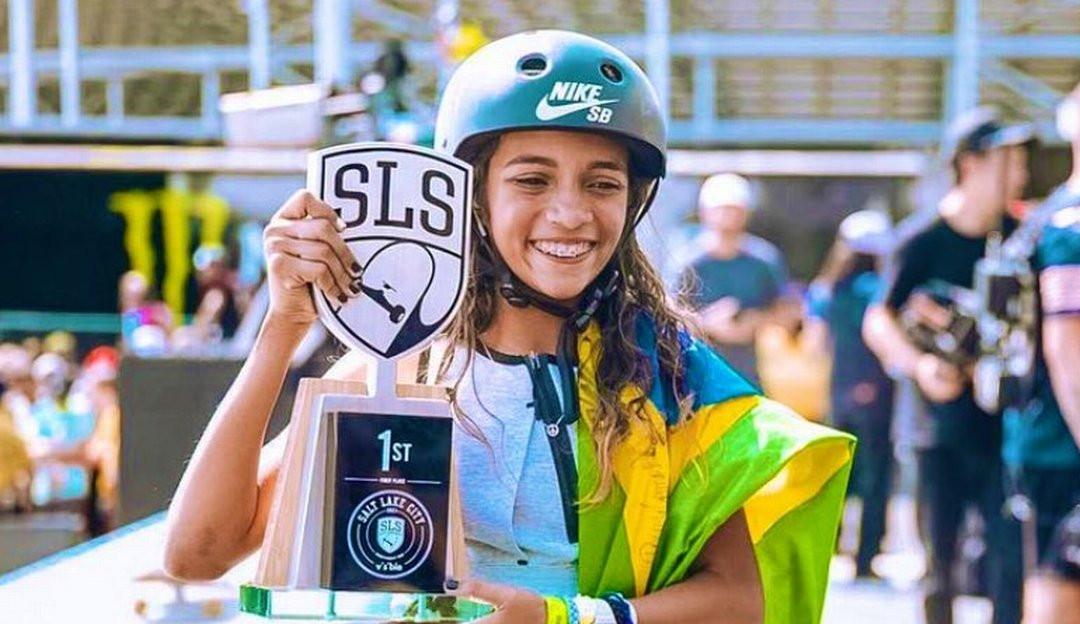 Rayssa Leal vence o mundial de skate street na etapa final de Salt Lake City da SLS