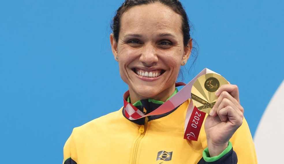 Íntima do pódio: Carol Santiago conquista seu 2º ouro nos 100m livre e soma mais uma medalha na coleção destas Paralimpíadas