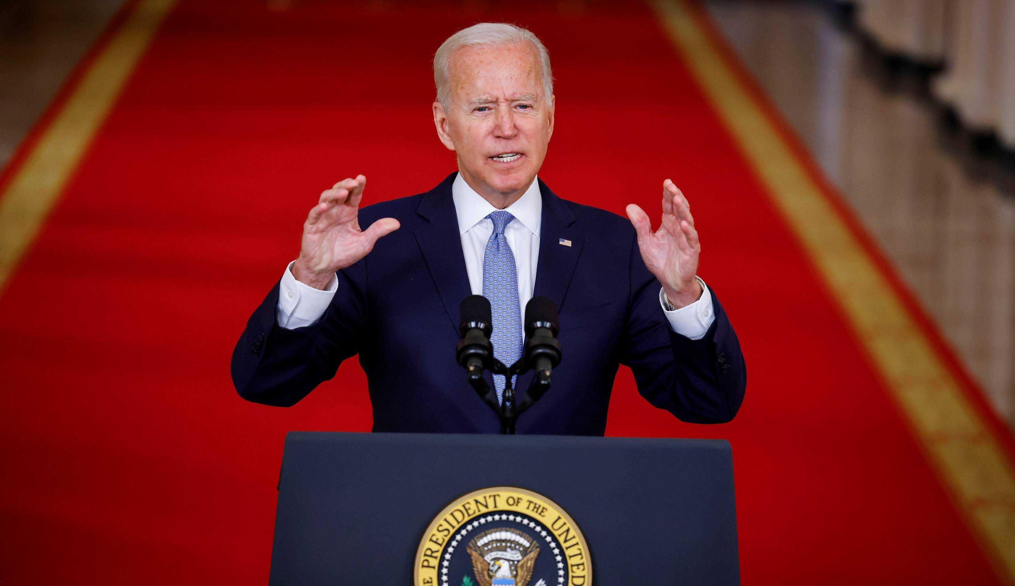 """""""Os Estados Unidos encerraram 20 anos de guerra no Afeganistão"""", comemora Biden"""