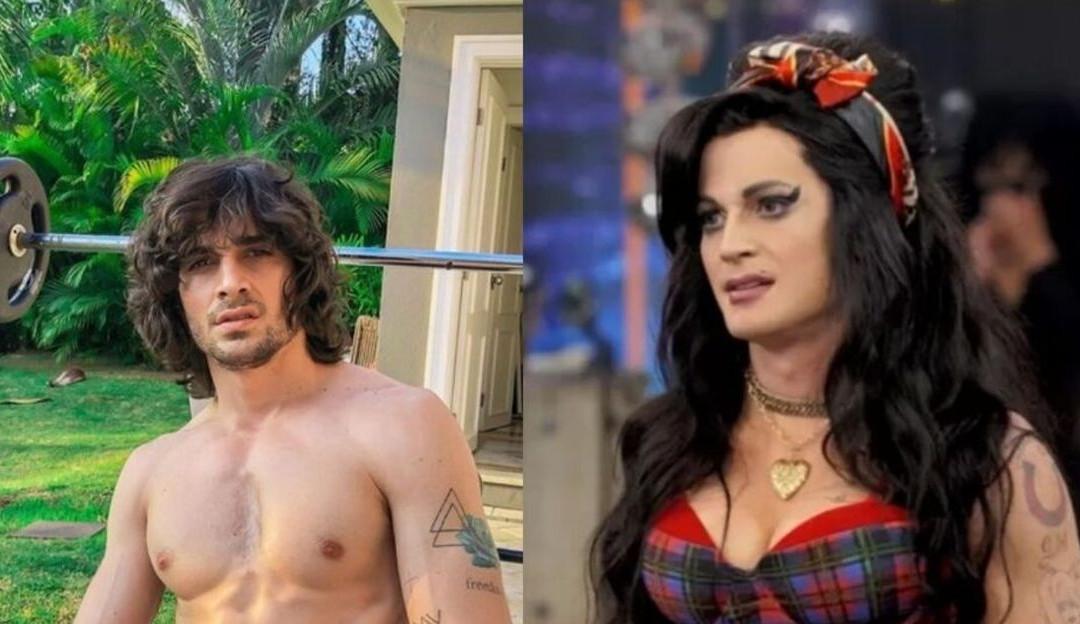 Amy Winehouse ou Cleo? Fiuk confunde Luciano Huck e Xuxa no Show dos Famosos