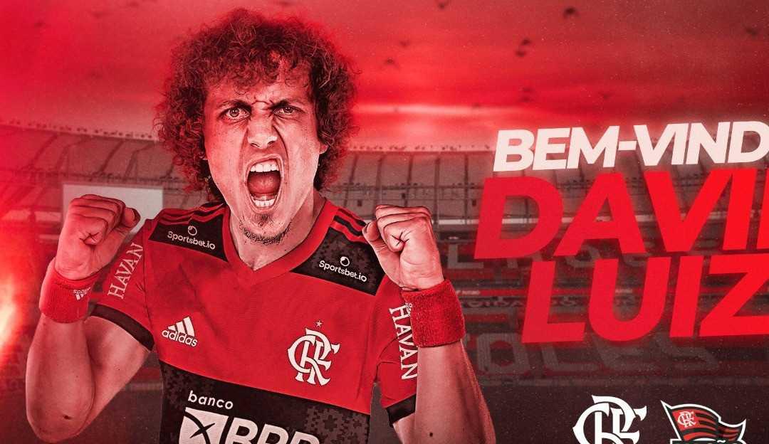 David Luiz é oficialmente jogador do Flamengo