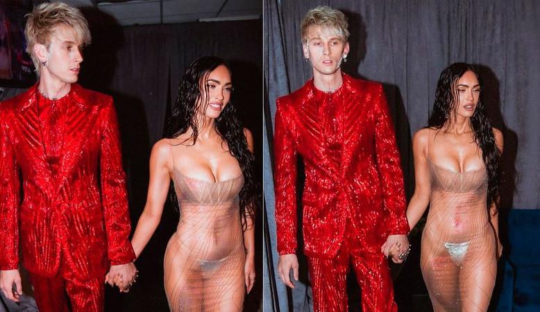 Megan Fox aposta em look transparente para o VMA 2021