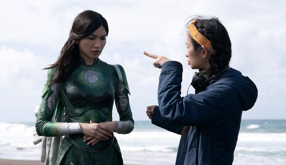 'Eternos': Chloé Zhao e elenco são destaque em novas imagens da produção