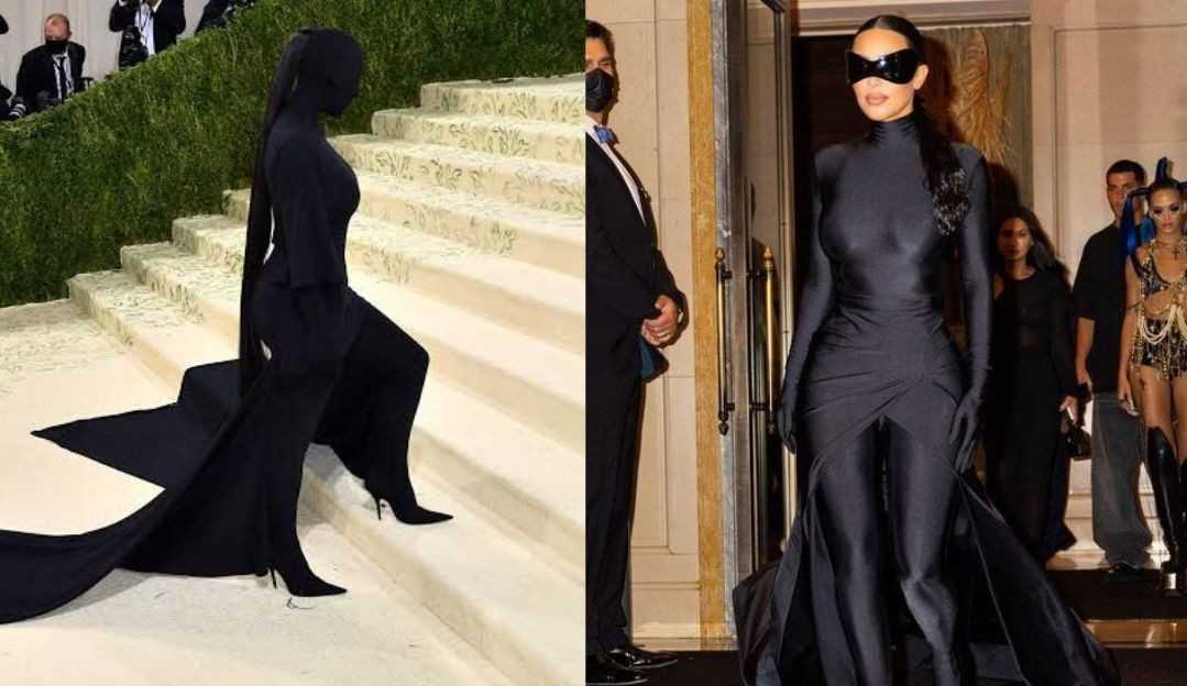 Depois de look polêmico para o MET Gala, Kim Kardashian causa com óculos futurísticos
