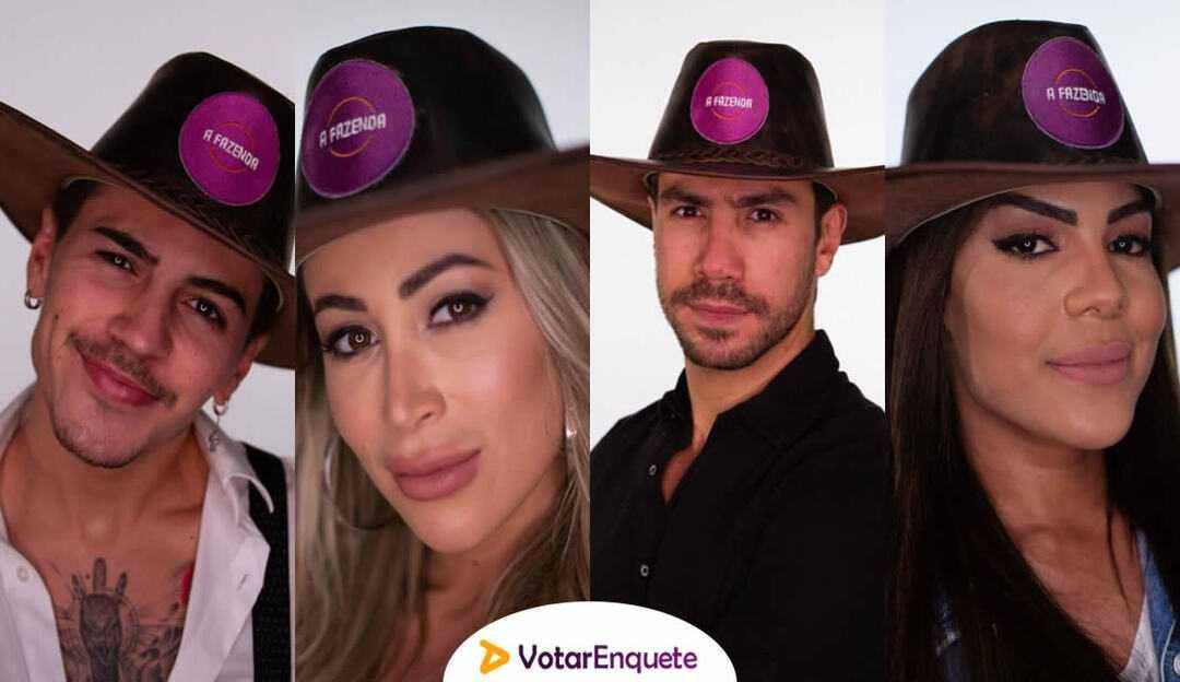 A Fazenda: Tays, Carol, Biel e Mariano formam a quinta roça da edição
