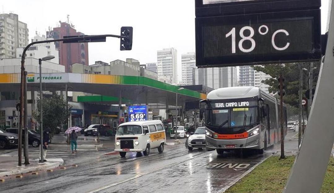 Após registrar o dia mais quente do ano, São Paulo tem queda brusca na temperatura
