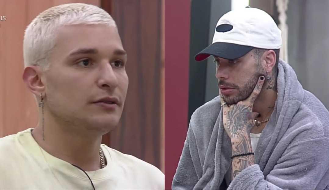MC Gui se irrita com Gui Araújo em 'A Fazenda 13' e desabafa com Rico e Erasmo