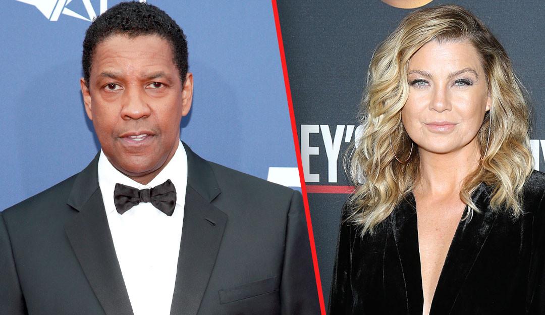 Ellen Pompeo revela briga feia com Denzel Washington no set de 'Grey's Anatomy'