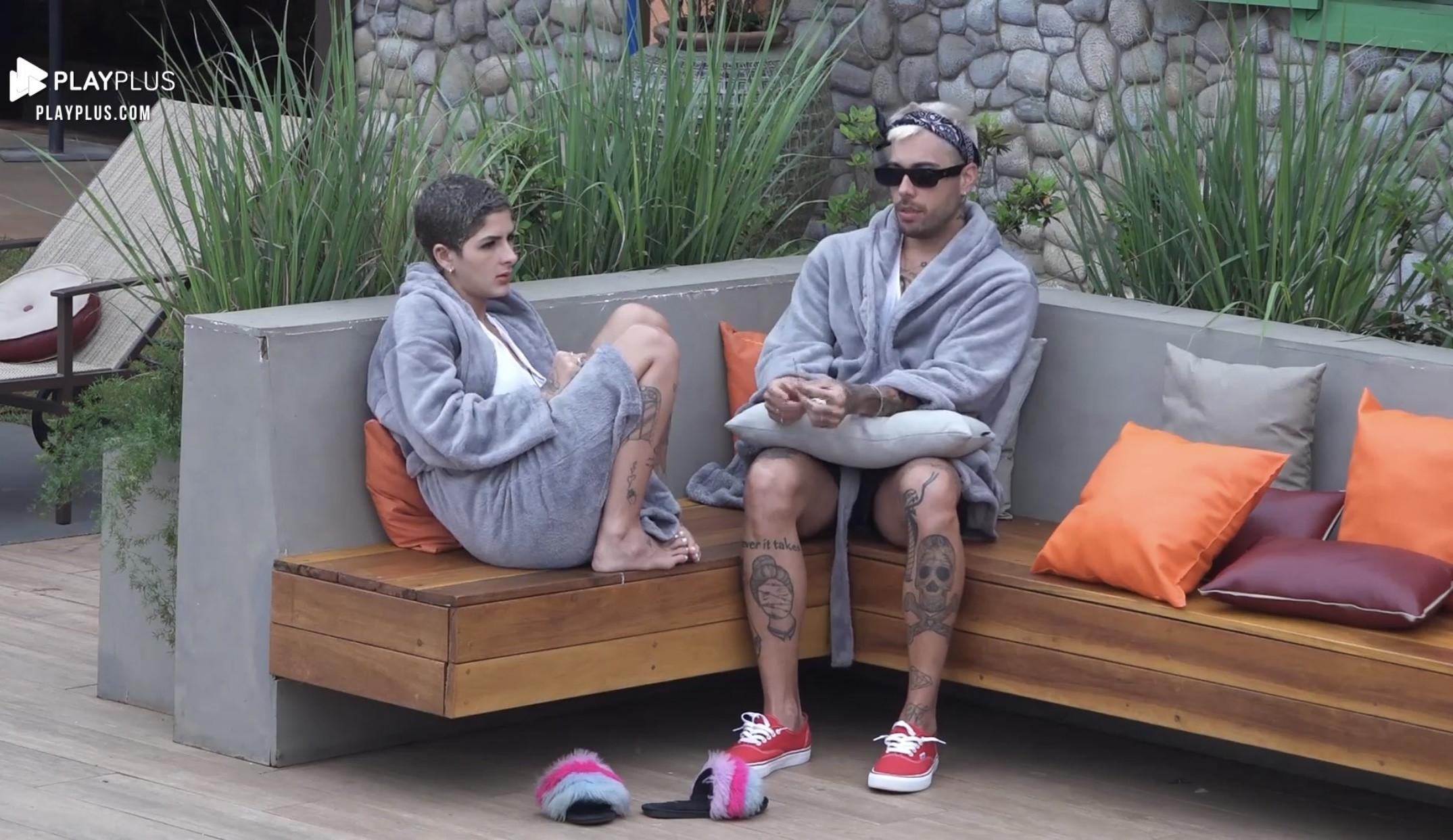 Lary Bottino e Gui Araújo fazem criticas ao jogo e aos posicionamentos de Marina: 'Parece que tem 15 anos'
