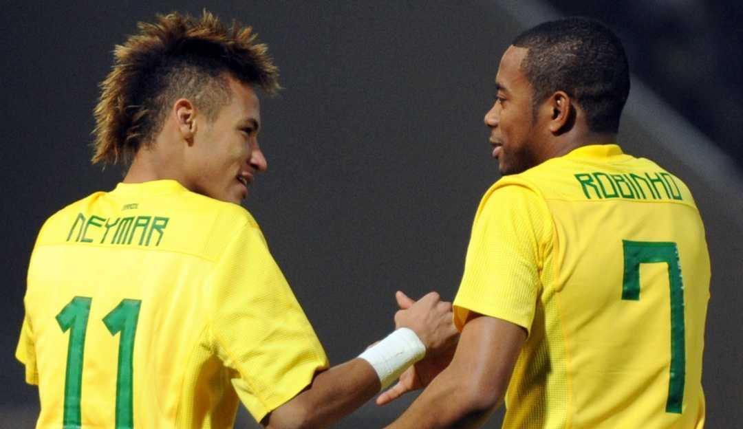 Atacante Robinho conta que recebeu mensagem de apoio de seu amigo Neymar