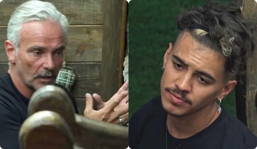 A fazenda: Mateus Carrieri fala com Biel sobre suas possibilidades no jogo