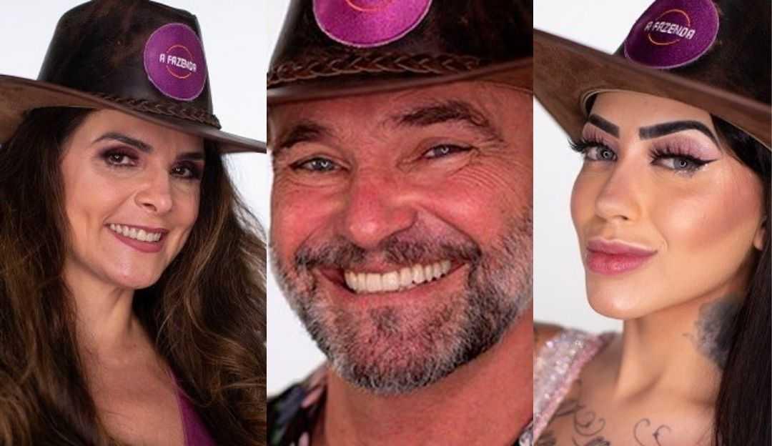 A Fazenda: Mirella, Luiza Ambiel e Mateus Carrieri formam a roça